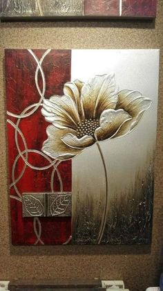Flower art diy pictures Ideas for 2019 Texture Art, Texture Painting, Glue Art, Mural Art, Wall Mural, Wall Art, Flower Pictures, Acrylic Art, Flower Art