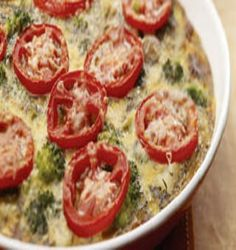 Broccoli-Potato Frittata-is a delicious, easy and quick (40) minute recipe which works well for a weekend breakfast, lunch or light supper. Key Ingredients: Broccoli, potatoes, onion, tomatoes, eggs and cheese. Seasoned well with italian spices. It is also a healthy, low calories, low fat, low sodium, low carbohydrates, low sugars, low carbohydrates, vegetarian, diabetic friendly and Weight Watchers (4) PointsPlus recipe. Makes (6) servings.