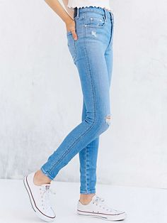 High rise Nobody Denim Cult Skinny-Fit Jeans with a super skinny ankle