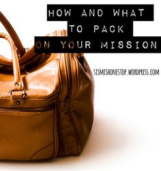 WHAT TO PACK Here's an as-complete-as-I-could-get-it packing list for all us sister missionaries! I looked at all the other sample packing lists I could find, combined them, and added everyth…