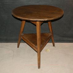 Welsh Pine Cricket Table-Good 19th C Welsh pine cricket table. 1820.