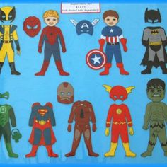 I WANT this! Like paper dolls but for boys!!! Felt super hero board etsy.com