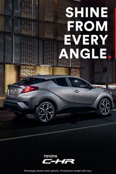 Introducing an edgy new ride that effortlessly takes center stage. Uniquely expressive, the first-ever Toyota C-HR's precision-cut lines let it shine from every angle. Click to learn more.
