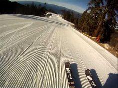 The Commute...skiing fresh corduroy over Lake Tahoe at Diamond Peak, Incline Village, NV