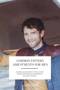 Sewing Men Projects Common pattern adjustments for men Mens Sewing Patterns, Sewing Men, Sewing Clothes, Clothing Patterns, Hand Sewing, Men Clothes, Men's Clothing, Pdf Patterns, Easy Sewing Projects