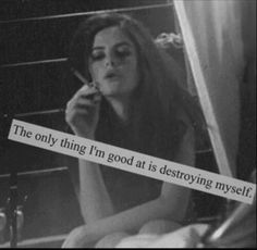 Image via We Heart It https://weheartit.com/entry/173377913/via/23814998 #blackandwhite #dark #girl #grunge #hipster #mood #quotes #sad #sadness