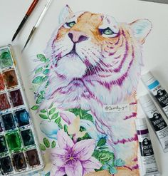 Tiger painting by Jonna Hyttinen