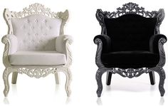 Do you like a touch of Baroque style in your modern house? Then check these new furniture pieces from Modani, which bring old and new together in a fashionable and functional way. In a classic color palette of black and white, with silver thrown in for some glitz and glam effect, these striking pieces will set the tone for a luxe look in your home.