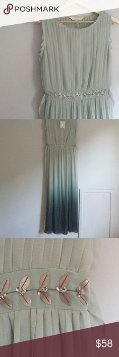 LC Lauren Conrad Ombre Maxi Dress Amazing detail in this. From the limited edition runway collection. Green Gables dress in a size 4 but would easily fit a 6 LC Lauren Conrad Dresses Maxi