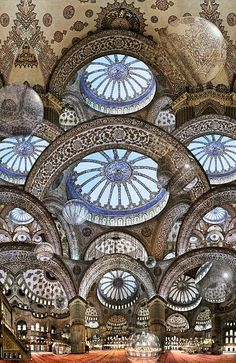 Historical Sultan Ahmed Mosque built from 1609 to 1616, Turkey.