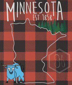 Minnesota Poster by SaraHynesDesigns on Etsy