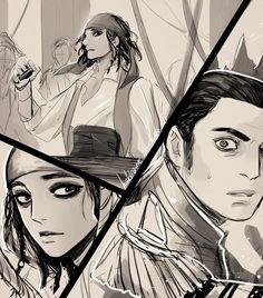 Jack the Sparrow and captain Salazar