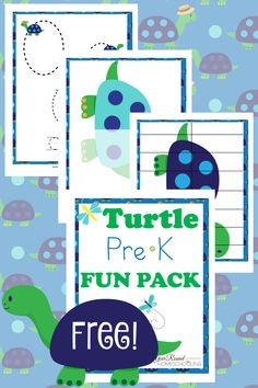 Preschoolers will have fun working on their handwriting skills, memory work and more with this Free Turtle PreK Fun Pack! Free Preschool, Preschool Printables, Preschool Learning, Preschool Activities, Free Printables, Teaching, Turtle Classroom, Classroom Ideas, Turtle Crafts