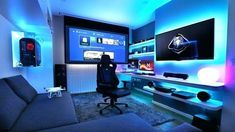 Game Room Ideas For Small Rooms - Best Video Game Room Ideas: Cool Gaming Setup Designs, Gamer Room Decor, and Apartment Decorating Ideas - Bedroom, Living Room, Small Room Best Gaming Setup, Gaming Room Setup, Pc Setup, Gamer Setup, Cool Gaming Setups, Gaming Chair, Computer Gaming Room, Computer Setup, Computer Technology