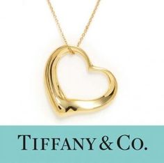 Tiffany 18k Gold Elsa Peretti Open Heart Small Pendant Necklace