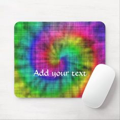 Tie dye textile patterned mouse pad Textile Patterns, Textiles, Business Supplies, Party Hats, Tie Dye, Kids Shop, Store, Tent, Shop Local