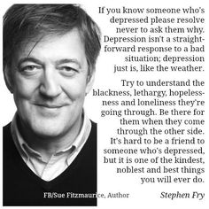 Quote Stephen Fry - Depression