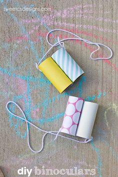 Simple Summer Crafting Idea Kids: Diy Binocular With Empty Tissue . Simple Summer Crafting Idea Kids: DIY Binocular with Empty Tissue simple diy crafts for kids - Kids Crafts Kids Crafts, Craft Activities For Kids, Easy Diy Crafts, Projects For Kids, Craft Ideas, Simple Crafts, Creative Crafts, Preschool Crafts, Art Projects