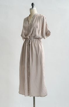 Vintage Inspired Dresses / Feminine Striped Dress / Lisette Dress