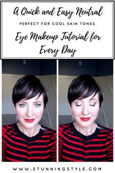 If you have cool skin tones, are a true winter, clear winter, deep winter, or look best in bold, pure hues, this eye makeup look is perfect for you! It is perfect with any lip color, and any season. This quick and easy look is achievable in 5 minutes or less, and has a simple makeup palette that you will use over and over again. It's a neutral look for beginners that goes with any outfit and any lip color. In this makeup video tutorial I show you step-by-step exactly how to create this look…