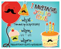 Mustache party invite-This cracks me up!  Lowen's first birthday???