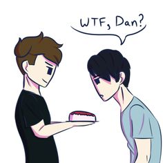 """Show me your birthday Philussy"" was on that cake XD Oh Dan"
