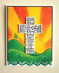 Handmade Easter Card - Christ Is Risen, religious (SCR-01). $6.00, via Etsy.
