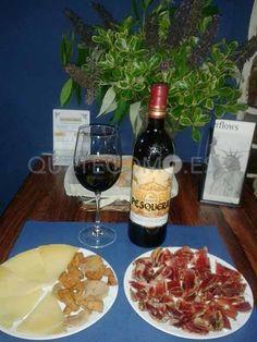 Tapa de jamón ibérico de bellota y queso   Restaurante tapería El Exquisito en Vigo