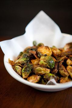 Brussels sprouts with lemon and chili are hugely popular at Uchi and Uchiko, and the dish are will help raise money during Austin Restaurant Week for Meals on Wheels and More.