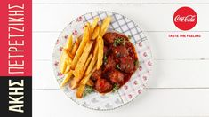 Meatballs with tomato sauce by Greek chef Akis Petretzikis! An easy recipe for fried, pork meatballs and a delicious tomato sauce full of aromas and herbs! Confectionery Recipe, Cooking Time, Cooking Recipes, Pork Meatballs, Recipe Steps, Most Popular Recipes, Greek Recipes, Food Videos, Holiday Recipes