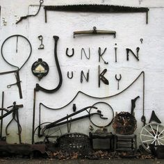 Junkin' Junky: I like the use of real objects to make text. Although I know we're working with very little space!