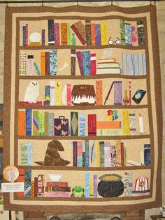 """""""The Project of Doom,"""" Harry Potter quilt by Jennifer Ofenstein (sewhooked.com)"""