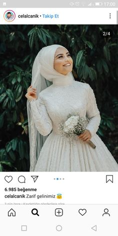Muslimah Wedding Dress, Hijab Style Dress, Hijab Wedding Dresses, Princess Wedding Dresses, Bridesmaid Dresses, Hijab Fashion, Fashion Dresses, Wedding Hijab Styles, Simple Hijab
