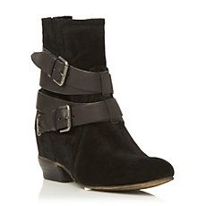 PITCH - Buckle Detail Concealed Wedge Ankle Boot