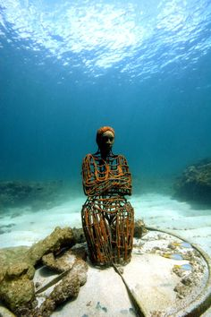 Recent - Underwater Sculpture by Jason deCaires Taylor Underwater Sculpture, Underwater Art, Jason Decaires Taylor, Caribbean Sea, West Indies, Under The Sea, Black History, Diving, Photography