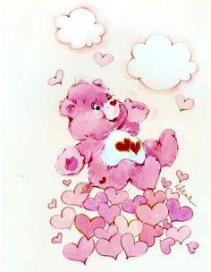 cartoons illustration Love-a-Lot-Bear Tatty Teddy, Teddy Bear, Care Bear Tattoos, Sunshine Bear, Care Bears Vintage, Hug Quotes, Bear Art, Christmas Love, Pink Love