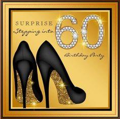 anniversaire 60 ans femme: idée d'invitation glamour: