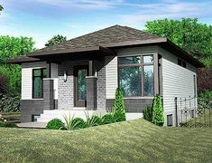 Petite Contemporary House Plan - 90273PD thumb - 01