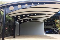 Cantilever Structures by Pioneer Shade Structures. Customised Pergola Solutions for your home or business. Car Porch Design, Balcony Design, Carport Designs, Pergola Designs, Pergola Ideas, Gate Design, Roof Design, Carport Patio, Front Wall Design