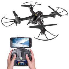 Quadcopter Drone 720P HD Live Video WiFi Camera 2.4GHz 4CH 6-Axis Gravity Sensor #QuadcopterDrone