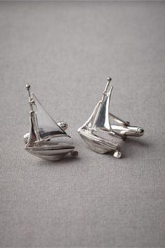 Nautical sailboat cufflinks