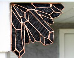 Obsidian Stained glass Crystal Corner, stained glass, goth decor, gothix, pagan, witchy, halloween decor, home decor, garden decor, cool