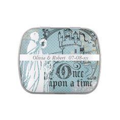 Custom Once Upon a Time Wedding Favor Candy Tin