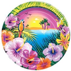 Luau Party Paper Plate 8ct