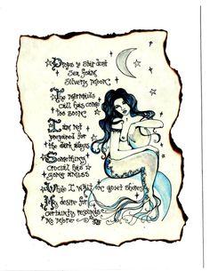 Uncertainty Mermaid Poetry Art Greeting by ThePhantomQueensLab, $3.69