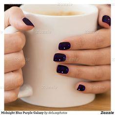 Midnight Blue Purple Galaxy Minx® Nail Wraps
