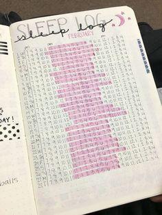 14 Bullet Journal Spreads - Sleep Log