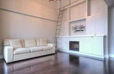 Toronto Lofts, Lofts For Rent, High Windows, Gas Bbq, Living Room Shelves, Lake Shore, Wall Mounted Tv, Window Wall, Workout Rooms