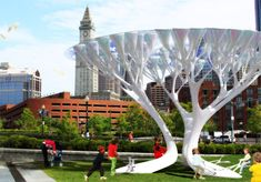 Biomimicry, de-carbonization, air cleaning, air purification, kinetic energy, TREEPODS, Cristian Canonico, Mario Caceres, Boston, Dr. Klaus Lackner, solar energy, sustainable design, green urban design