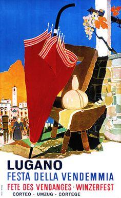 Author Buzzi Daniele Format Vertical Country Switzerland Year of poster 1968 Poster Vintage, Vintage Travel Posters, Vintage Advertisements, Vintage Ads, Fürstentum Liechtenstein, Travel Ads, Railway Posters, Lugano, Expo